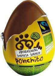 Jajko niespodzianka czekoladowe fair trade bezglutenowe BIO 20 g