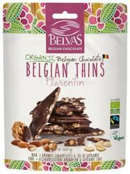 Kawałki czekolady gorzkiej z karmelizowanymi migdałami fair trade bezglutenowe BIO 120 g