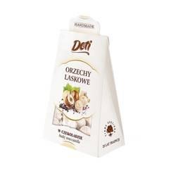 Orzech laskowy w białej czekoladzie stracciatella 100 g