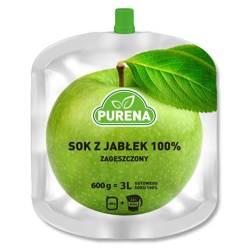 Sok jabłkowy 100%, zagęszczony Purena, 600g