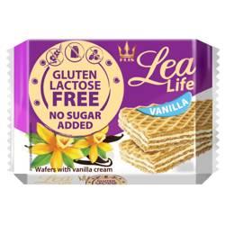 Wafle waniliowe bez glutenu, laktozy i bez dodatku