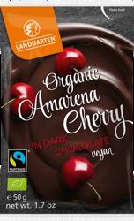 Wiśnie amarena liofilizowane w gorzkiej czekoladzie fair trade bezglutenowe BIO 50 g